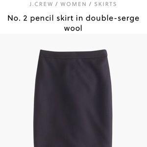 JCrew Wool No.2 Pencil Skirt